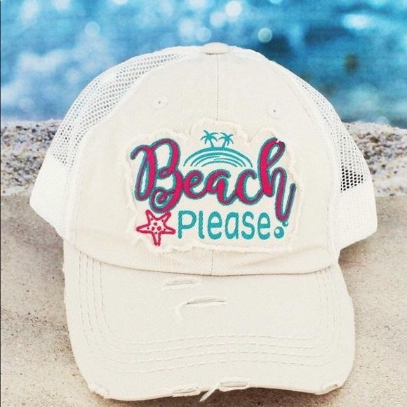 390e6fc9 Boutique Accessories | Distressed Stone Beach Please Mesh Cap | Poshmark